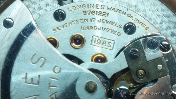 Relojes automáticos: Reloj de los primeros Longines automático de caballero del año 1952, calibre 19as - Foto 63 - 66126494