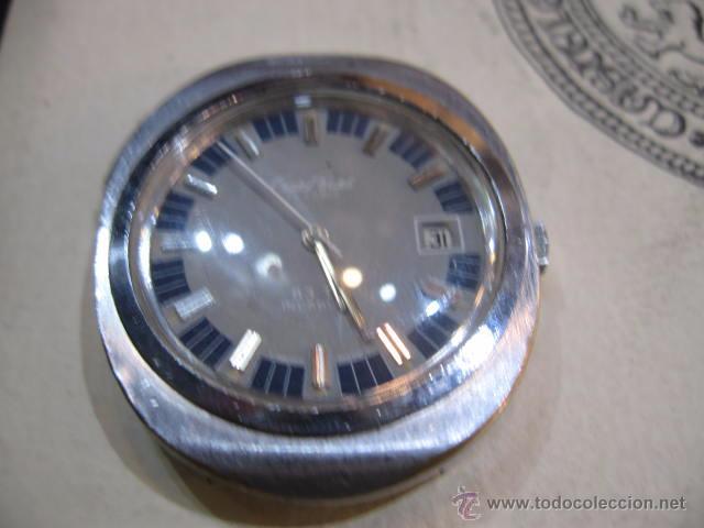 Relojes automáticos: Reloj de caballero ovalado marca Cristal Watch calendario - funcionando 42 x 37 mm. - Foto 2 - 50150779