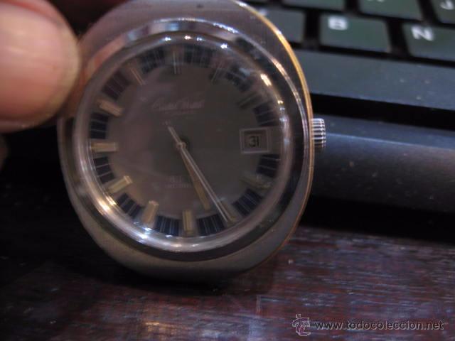 Relojes automáticos: Reloj de caballero ovalado marca Cristal Watch calendario - funcionando 42 x 37 mm. - Foto 3 - 50150779