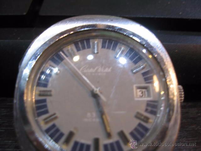 Relojes automáticos: Reloj de caballero ovalado marca Cristal Watch calendario - funcionando 42 x 37 mm. - Foto 4 - 50150779