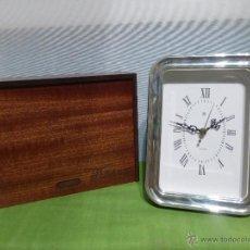 Relojes automáticos: ELEGANTE RELOJ DE MESA WHITERMAN ESTILO CLÁSICO.PLATA MACIZA DE 1ª LEY.CAJA ORIGINAL Y CERTIFICADO. Lote 50561998