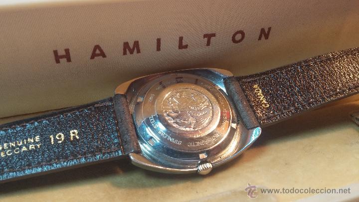 Relojes automáticos: PRIMER MODELO de la prestigiosa serie del reloj HAMILTON PAN-EUROP, el caballito alado, años 60 - Foto 3 - 51483589