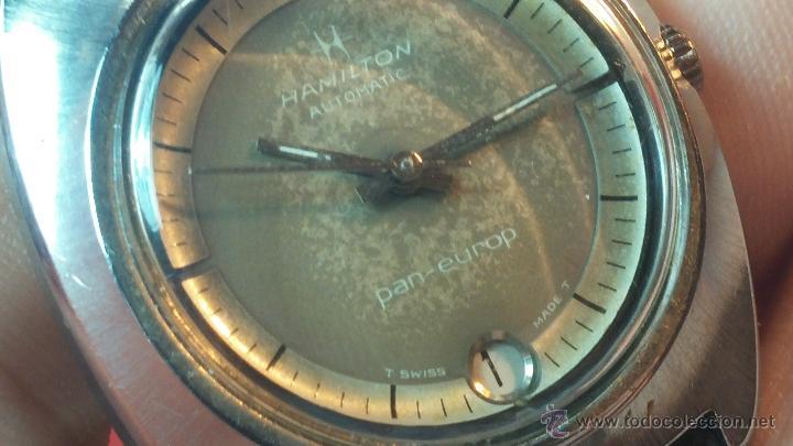 Relojes automáticos: PRIMER MODELO de la prestigiosa serie del reloj HAMILTON PAN-EUROP, el caballito alado, años 60 - Foto 10 - 51483589