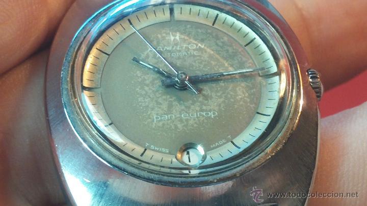 Relojes automáticos: PRIMER MODELO de la prestigiosa serie del reloj HAMILTON PAN-EUROP, el caballito alado, años 60 - Foto 11 - 51483589