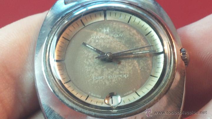 Relojes automáticos: PRIMER MODELO de la prestigiosa serie del reloj HAMILTON PAN-EUROP, el caballito alado, años 60 - Foto 12 - 51483589