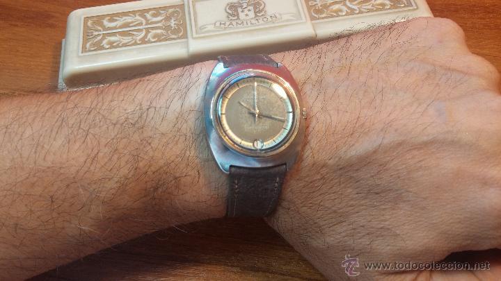 Relojes automáticos: PRIMER MODELO de la prestigiosa serie del reloj HAMILTON PAN-EUROP, el caballito alado, años 60 - Foto 19 - 51483589