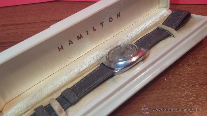 Relojes automáticos: PRIMER MODELO de la prestigiosa serie del reloj HAMILTON PAN-EUROP, el caballito alado, años 60 - Foto 29 - 51483589