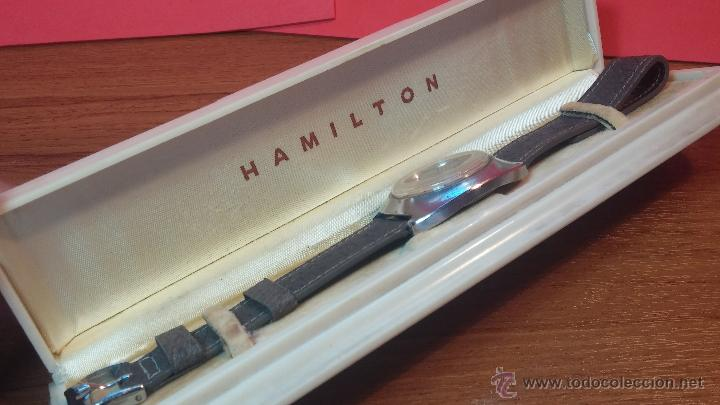 Relojes automáticos: PRIMER MODELO de la prestigiosa serie del reloj HAMILTON PAN-EUROP, el caballito alado, años 60 - Foto 30 - 51483589