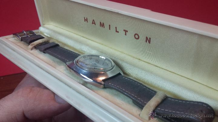 Relojes automáticos: PRIMER MODELO de la prestigiosa serie del reloj HAMILTON PAN-EUROP, el caballito alado, años 60 - Foto 32 - 51483589