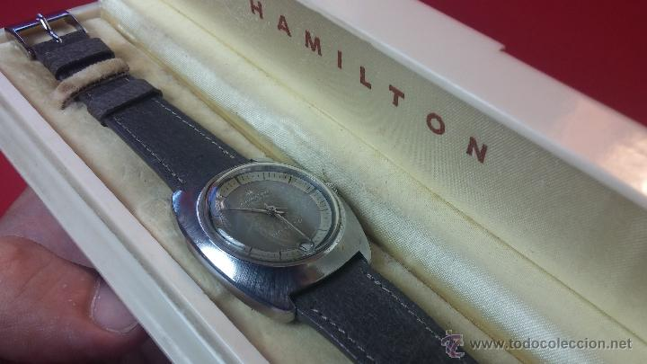 Relojes automáticos: PRIMER MODELO de la prestigiosa serie del reloj HAMILTON PAN-EUROP, el caballito alado, años 60 - Foto 33 - 51483589