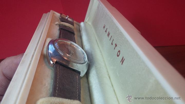 Relojes automáticos: PRIMER MODELO de la prestigiosa serie del reloj HAMILTON PAN-EUROP, el caballito alado, años 60 - Foto 35 - 51483589