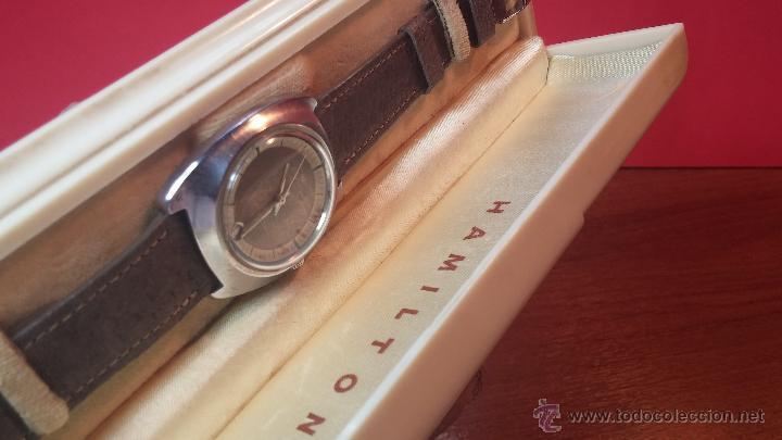 Relojes automáticos: PRIMER MODELO de la prestigiosa serie del reloj HAMILTON PAN-EUROP, el caballito alado, años 60 - Foto 36 - 51483589