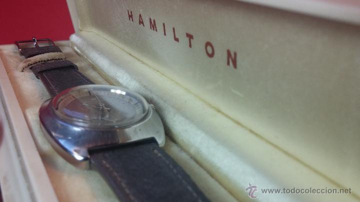 Relojes automáticos: PRIMER MODELO de la prestigiosa serie del reloj HAMILTON PAN-EUROP, el caballito alado, años 60 - Foto 37 - 51483589