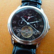 Relojes automáticos: RELOJ XXL MECÁNICO AUTOMÁTICO TRIAS GRAN COMPLICACION 45MM MAQUINARIA VISTA ESFERA NEGRA. Lote 81710263