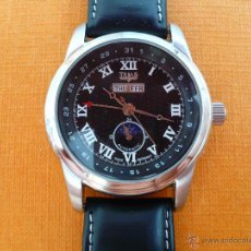 Relojes automáticos: RELOJ MECÁNICO AUTOMÁTICO TRIAS, NÚMEROS ROMANOS GRANDES MAQUINARIA VISTA. Lote 51506176