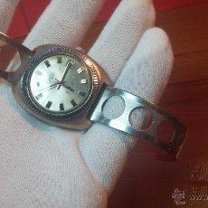 Relojes automáticos: IMPONENTE RELOJ DEPORTIVO AUTOMÁTICO VINTAGE DE LOS 70 EXACTUS TIPO DRIVERS CON 25 RUBÍS. Lote 52008274