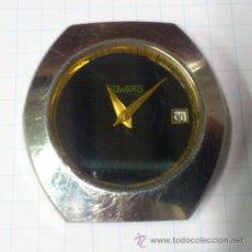 Orologi automatici: RELOJ PULSERA CABALLERO AUTOMATICO AÑOS 70 - DUWARD - ESFERA NEGRA.. ALFONSOJO FUNCIONA. Lote 52433789