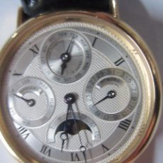 Relojes automáticos: RELOJ DE PULSERA BREGUET AUTOMÁTICO. CALENDARIO PERPETUO. HEBILLA DE ORO. TODO ORIGINAL.. Lote 52997937