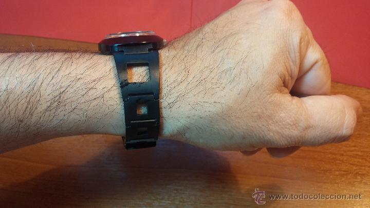 Relojes automáticos: Reloj DUWARD AUTOMATICO, AS 2066, modelo de RARO y ESCASO de color negro en PVD, de los años 70 - Foto 5 - 53395787