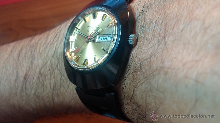 Relojes automáticos: Reloj DUWARD AUTOMATICO, AS 2066, modelo de RARO y ESCASO de color negro en PVD, de los años 70 - Foto 9 - 53395787