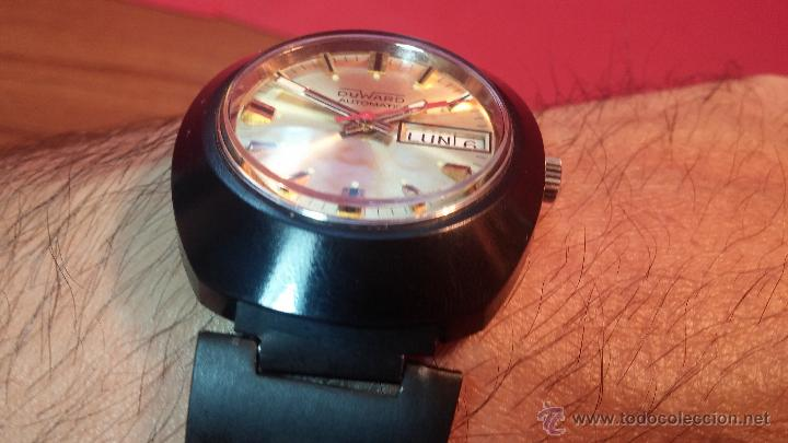 Relojes automáticos: Reloj DUWARD AUTOMATICO, AS 2066, modelo de RARO y ESCASO de color negro en PVD, de los años 70 - Foto 19 - 53395787