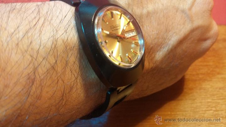 Relojes automáticos: Reloj DUWARD AUTOMATICO, AS 2066, modelo de RARO y ESCASO de color negro en PVD, de los años 70 - Foto 22 - 53395787