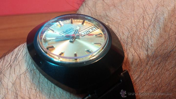 Relojes automáticos: Reloj DUWARD AUTOMATICO, AS 2066, modelo de RARO y ESCASO de color negro en PVD, de los años 70 - Foto 23 - 53395787