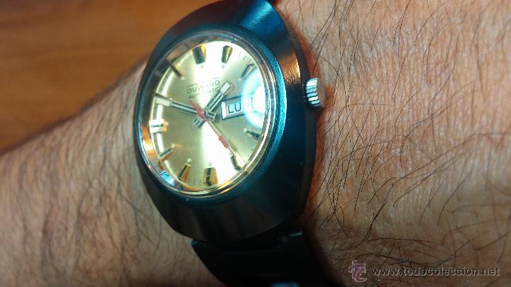 Relojes automáticos: Reloj DUWARD AUTOMATICO, AS 2066, modelo de RARO y ESCASO de color negro en PVD, de los años 70 - Foto 24 - 53395787