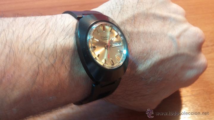 Relojes automáticos: Reloj DUWARD AUTOMATICO, AS 2066, modelo de RARO y ESCASO de color negro en PVD, de los años 70 - Foto 27 - 53395787