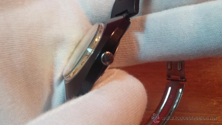Relojes automáticos: Reloj DUWARD AUTOMATICO, AS 2066, modelo de RARO y ESCASO de color negro en PVD, de los años 70 - Foto 30 - 53395787