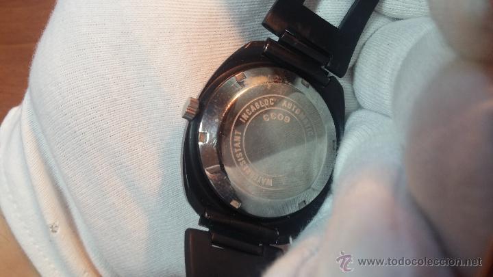 Relojes automáticos: Reloj DUWARD AUTOMATICO, AS 2066, modelo de RARO y ESCASO de color negro en PVD, de los años 70 - Foto 31 - 53395787