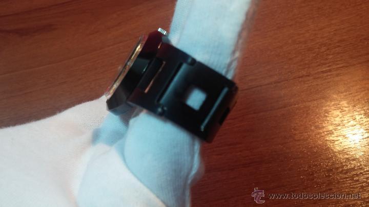 Relojes automáticos: Reloj DUWARD AUTOMATICO, AS 2066, modelo de RARO y ESCASO de color negro en PVD, de los años 70 - Foto 38 - 53395787