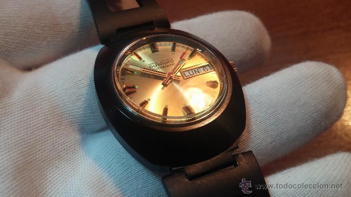 Relojes automáticos: Reloj DUWARD AUTOMATICO, AS 2066, modelo de RARO y ESCASO de color negro en PVD, de los años 70 - Foto 43 - 53395787