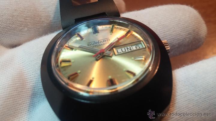 Relojes automáticos: Reloj DUWARD AUTOMATICO, AS 2066, modelo de RARO y ESCASO de color negro en PVD, de los años 70 - Foto 44 - 53395787