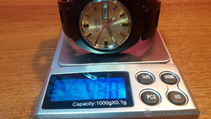 Relojes automáticos: Reloj DUWARD AUTOMATICO, AS 2066, modelo de RARO y ESCASO de color negro en PVD, de los años 70 - Foto 48 - 53395787