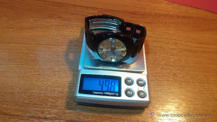 Relojes automáticos: Reloj DUWARD AUTOMATICO, AS 2066, modelo de RARO y ESCASO de color negro en PVD, de los años 70 - Foto 49 - 53395787