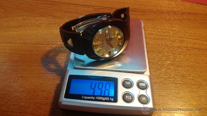 Relojes automáticos: Reloj DUWARD AUTOMATICO, AS 2066, modelo de RARO y ESCASO de color negro en PVD, de los años 70 - Foto 50 - 53395787