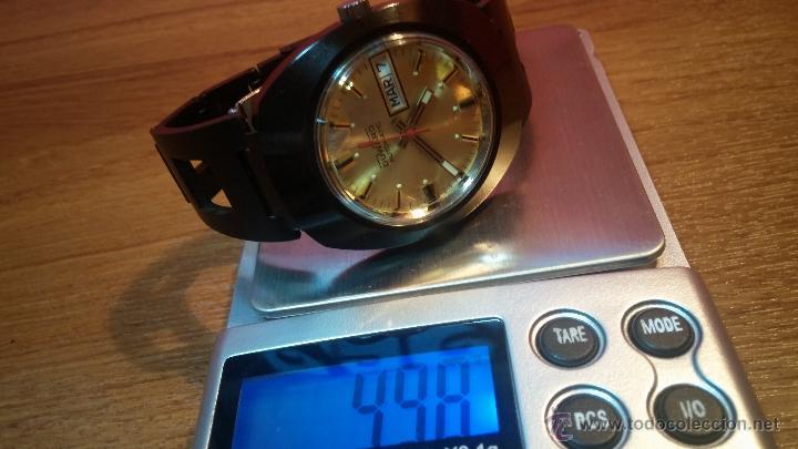 Relojes automáticos: Reloj DUWARD AUTOMATICO, AS 2066, modelo de RARO y ESCASO de color negro en PVD, de los años 70 - Foto 51 - 53395787