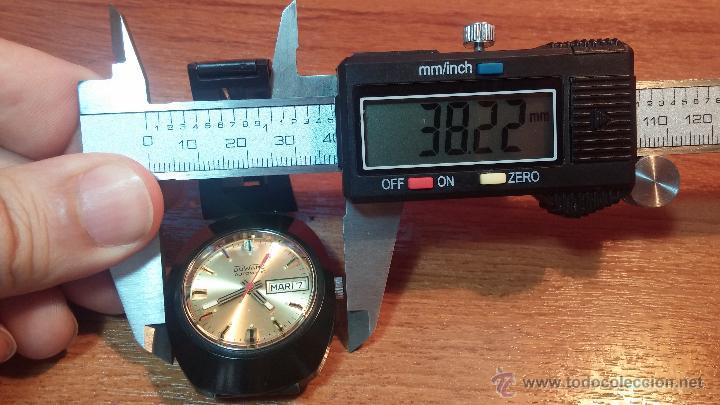 Relojes automáticos: Reloj DUWARD AUTOMATICO, AS 2066, modelo de RARO y ESCASO de color negro en PVD, de los años 70 - Foto 52 - 53395787