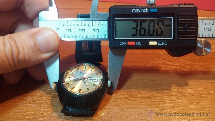 Relojes automáticos: Reloj DUWARD AUTOMATICO, AS 2066, modelo de RARO y ESCASO de color negro en PVD, de los años 70 - Foto 54 - 53395787