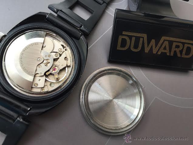Relojes automáticos: Reloj DUWARD AUTOMATICO, AS 2066, modelo de RARO y ESCASO de color negro en PVD, de los años 70 - Foto 56 - 53395787