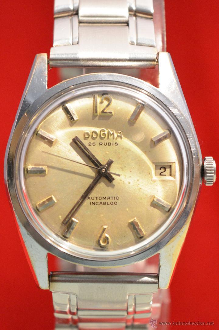 Relojes automáticos: ANTIGUO RELOJ HOMBRE AUTOMATICO SUIZO DOGMA 23 RUBIS FUNCIONANDO SWISS MADE - Foto 2 - 53714662