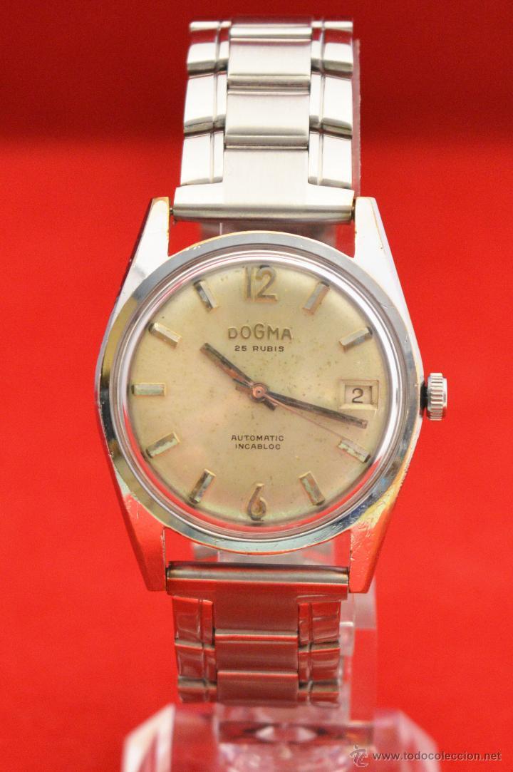Relojes automáticos: ANTIGUO RELOJ HOMBRE AUTOMATICO SUIZO DOGMA 23 RUBIS FUNCIONANDO SWISS MADE - Foto 3 - 53714662