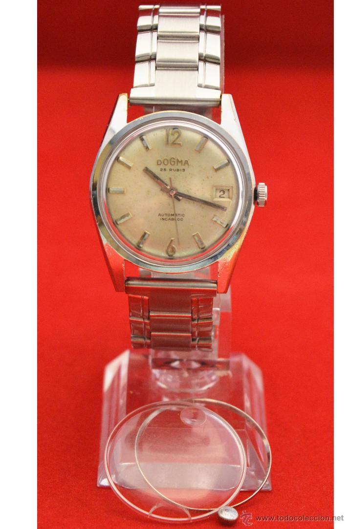Relojes automáticos: ANTIGUO RELOJ HOMBRE AUTOMATICO SUIZO DOGMA 23 RUBIS FUNCIONANDO SWISS MADE - Foto 4 - 53714662
