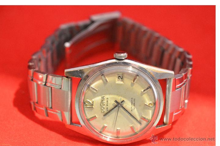 Relojes automáticos: ANTIGUO RELOJ HOMBRE AUTOMATICO SUIZO DOGMA 23 RUBIS FUNCIONANDO SWISS MADE - Foto 7 - 53714662