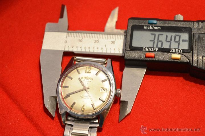 Relojes automáticos: ANTIGUO RELOJ HOMBRE AUTOMATICO SUIZO DOGMA 23 RUBIS FUNCIONANDO SWISS MADE - Foto 22 - 53714662