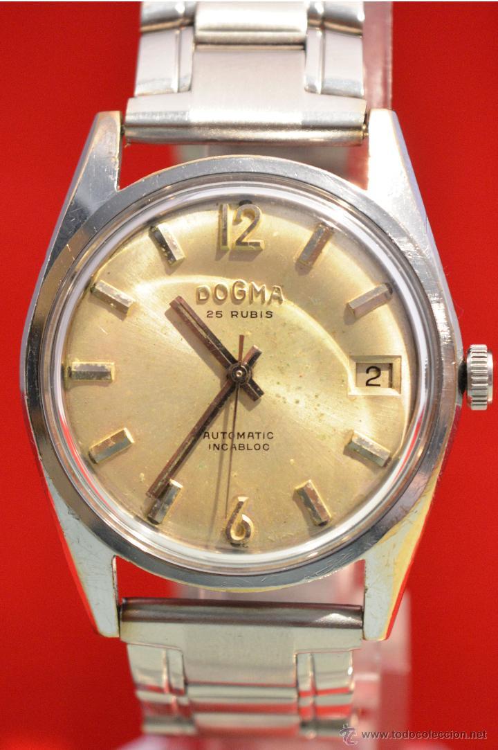 Relojes automáticos: ANTIGUO RELOJ HOMBRE AUTOMATICO SUIZO DOGMA 23 RUBIS FUNCIONANDO SWISS MADE - Foto 25 - 53714662