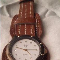 Relojes automáticos: RELOJ DE PULSERA GIGI QUARTZ CON CAJA NEGRA DE 35,4 CM DE DIÁMETRO. Lote 53844718