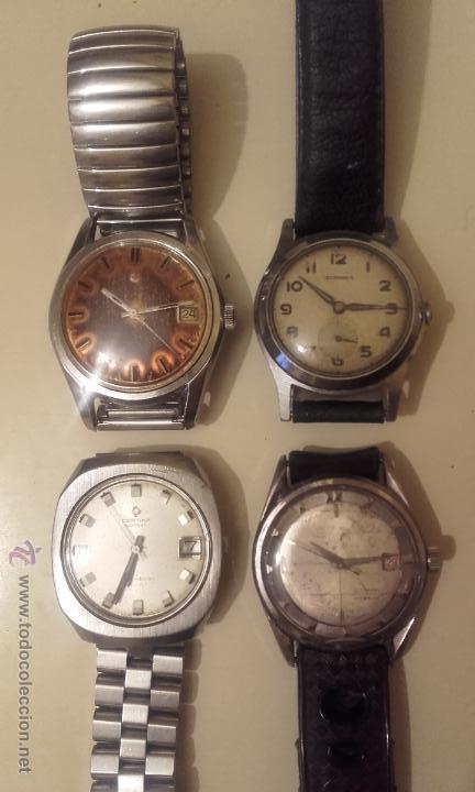 LOTE CUATRO RELOJES. UNIVERSAL, CERTINA DS TORTUGA, CERTINA BLUE RIBBON, STANDEX. (Relojes - Relojes Automáticos)