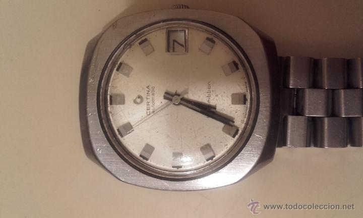 Relojes automáticos: Lote cuatro relojes. UNIVERSAL, CERTINA DS TORTUGA, CERTINA BLUE RIBBON, STANDEX. - Foto 6 - 56260103
